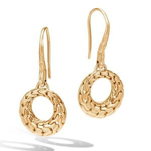 John Hardy Classic Chain open circle drop earrings